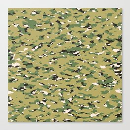 Camouflage: Woodland IV Canvas Print
