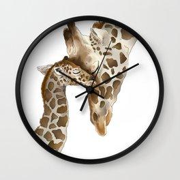 Jiraffe Love Wall Clock