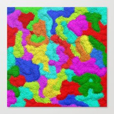 Psychedelic Glitter Pattern Canvas Print