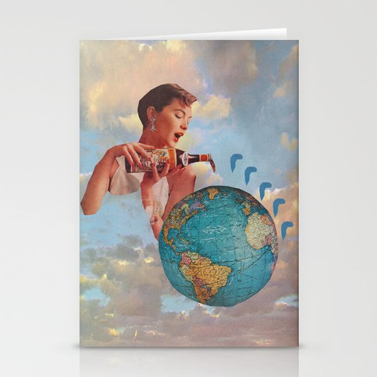The World Needs Something Stationery Cards