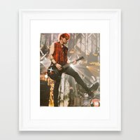 michael clifford Framed Art Prints featuring Clifford Michael // Live by Fan_Girl_Designs