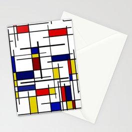 Mondrian Pattern Stationery Cards