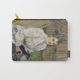 Lady with a Dog Carry-All Pouch