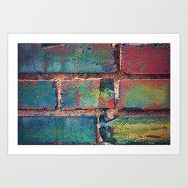 The Rainbow Brick Wall Art Print