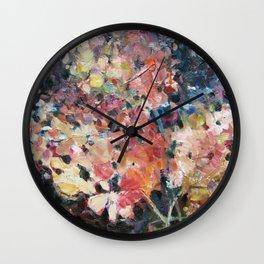 Hot Hydrangeas Wall Clock