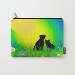 Cat, Dog, and Moon Carry-All Pouch