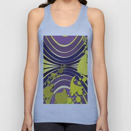 Escaping Dreams Purple and Yellow Unisex Tank Top