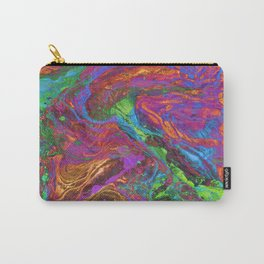Psychedelic Cosmo Nightmare Glitch Carry-All Pouch