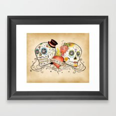 Death Do Us Part Framed Art Print