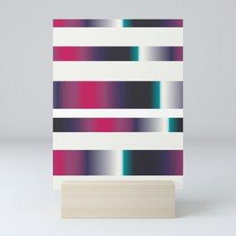 rainbow stripes Mini Art Print