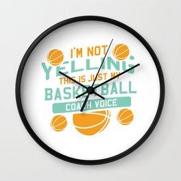 Funny Basketball Coach Gift Wall Clock