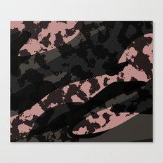Pink Leopard Camo Canvas Print