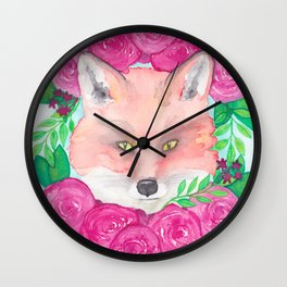 Foxy Love Wall Clock