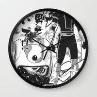 manga Wall Clocks featuring Manga 04 by Zuno