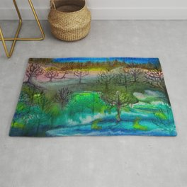 A Walk with Trees Rug