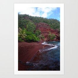 Red Sand Beach Art Print
