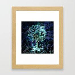 Starry Night Tree of Life Framed Art Print