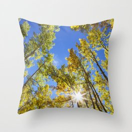 Fall Leaves in Colorado Throw Pillow