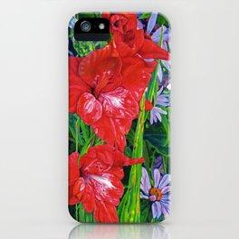 Gladiola's and Echinacea iPhone Case