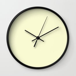 color light goldenrod yellow Wall Clock