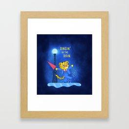 Singin' in the rain Framed Art Print