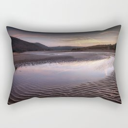 The river at Three Cliffs Bay Rectangular Pillow