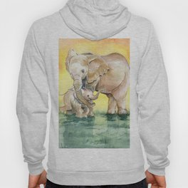 Colorful Mother's Love - Elephant Hoody