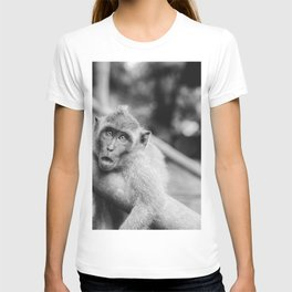 Cute Monkey (Black and White) T-shirt