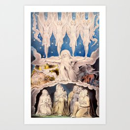 "William Blake ""When the Morning Stars Sang Together"" Art Print"