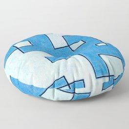 Protoglifo 05 White clouding to blue Floor Pillow