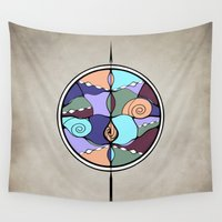 compass Wall Tapestries featuring Compass by DebS Digs Photo Art