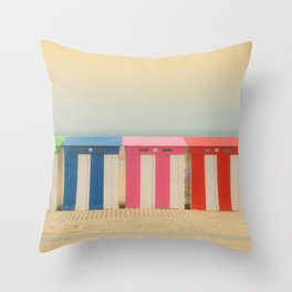 Beach cabins Malo Throw Pillow