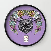 cheshire Wall Clocks featuring Cheshire by minniemorrisart