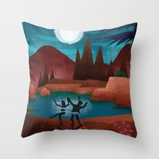Moondance - Inspired by Wes Anderson's movie Moonrise Kingdom Throw Pillow
