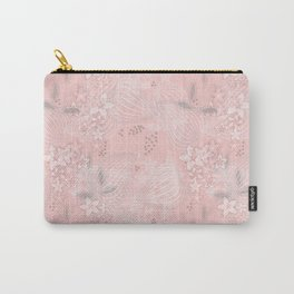 Pink floral pattern 2 Carry-All Pouch
