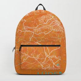 Lüdenscheid, Germany, Gold, Blue, City, Map Backpack