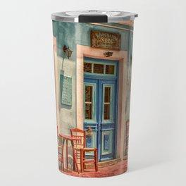 Pastel Cafe Peloponnese Greece Travel Mug
