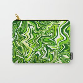Green Glitter Agate Slice Carry-All Pouch