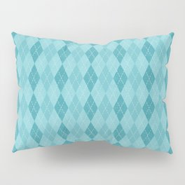 Textured Argyle in Blues Pillow Sham