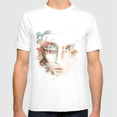 WHITEOUT Mens Fitted Tee White MEDIUM
