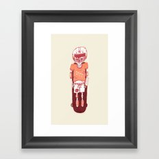 It's All Going Downhill From Here Framed Art Print