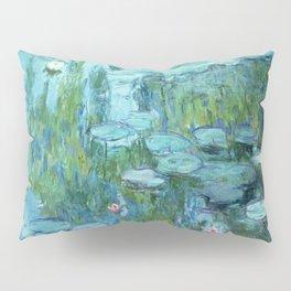 Claude Monet Water Lilies / Nymphéas teal aqua Pillow Sham