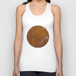 Orange Calcite // Flower of Life Unisex Tank Top
