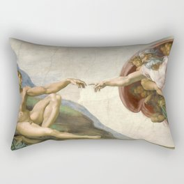 Michelangelo - Creation of Adam Rectangular Pillow