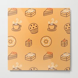 Cake Bakery Pattern Metal Print
