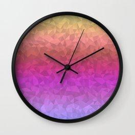 Vibrant Ombre Wall Clock
