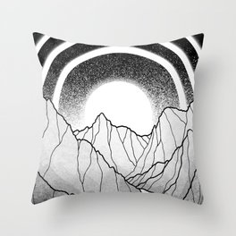 Silver Canyon Throw Pillow