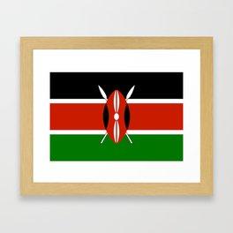 Kenyan national flag - Authentic version Framed Art Print
