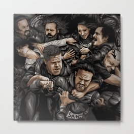 Sons of Anarchy-War Metal Print