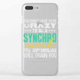 Synchronized Swimming Coach Clear iPhone Case
